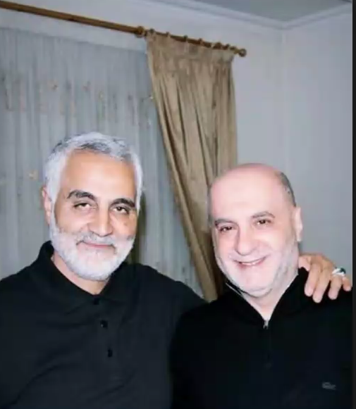 Photo of Qasem Soleimani (left) and Amin Sherri (right)