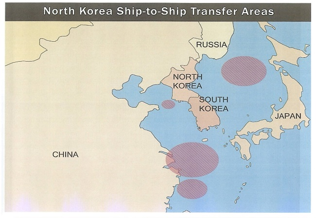 North Korea Ship-to-Ship Transfer Areas