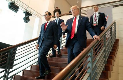 Secretary Mnuchin and President Trump attend meetings at G7 in France